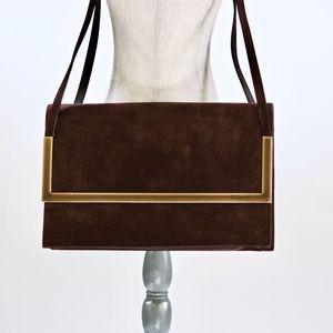 Salvatore Ferragamo Suede Shoulder Bag DD218784